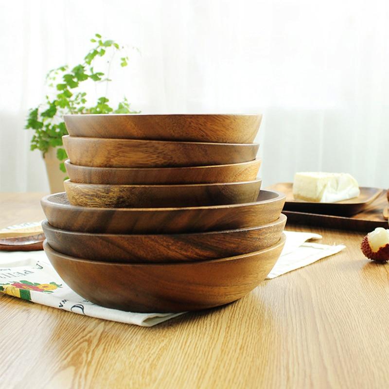 Μεγάλο στρογγυλό ξύλινο μπολ σαλάτας - Κουζίνα, τραπεζαρία και μπαρ - Φωτογραφία 6