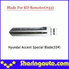 Free shipping (10 pcs/lot)Metal Blank Uncut Flip KD Remote Key Blade Type #33 for Hyundai Accent