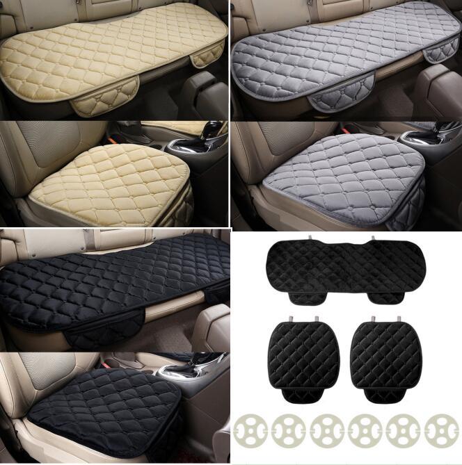 CATUO Four Seasons 3 шт./компл. удобные квадратные Мягкий хлопок подушки сиденья автомобиля спереди назад чехлы авто кресло мат