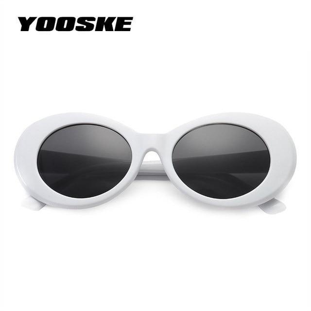 8e87b3cd9b6c5 NIRVANA Kurt Cobain YOOSKE Vintage Rodada óculos de Sol Para As Mulheres  Homens Marca Designer Espelhado