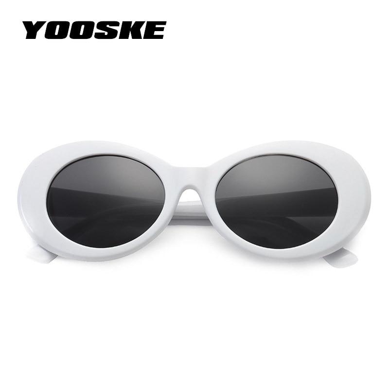YOOSKE Clout Goggles NIRVANA Kurt Cobain Round Sunglasses ...