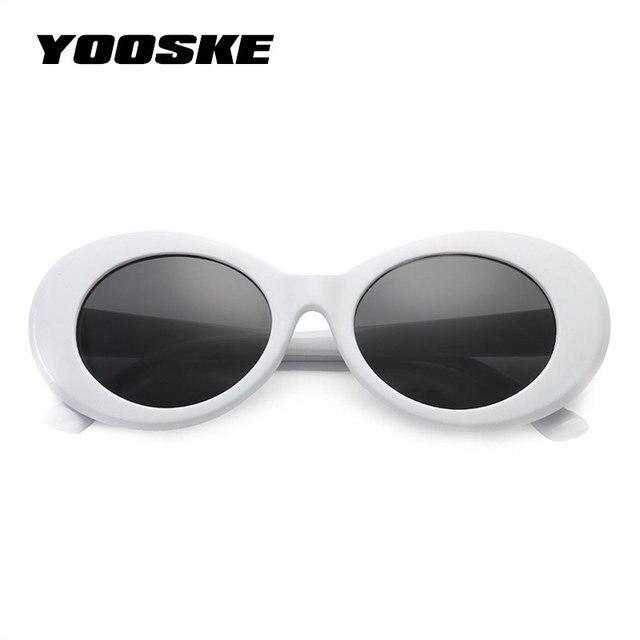 Yooske Clout Kacamata Olahraga Nirvana Kurt Cobain Sepanjang Kacamata Hitam  untuk Wanita Pria Merek Desain Mirrored 1db454f82c