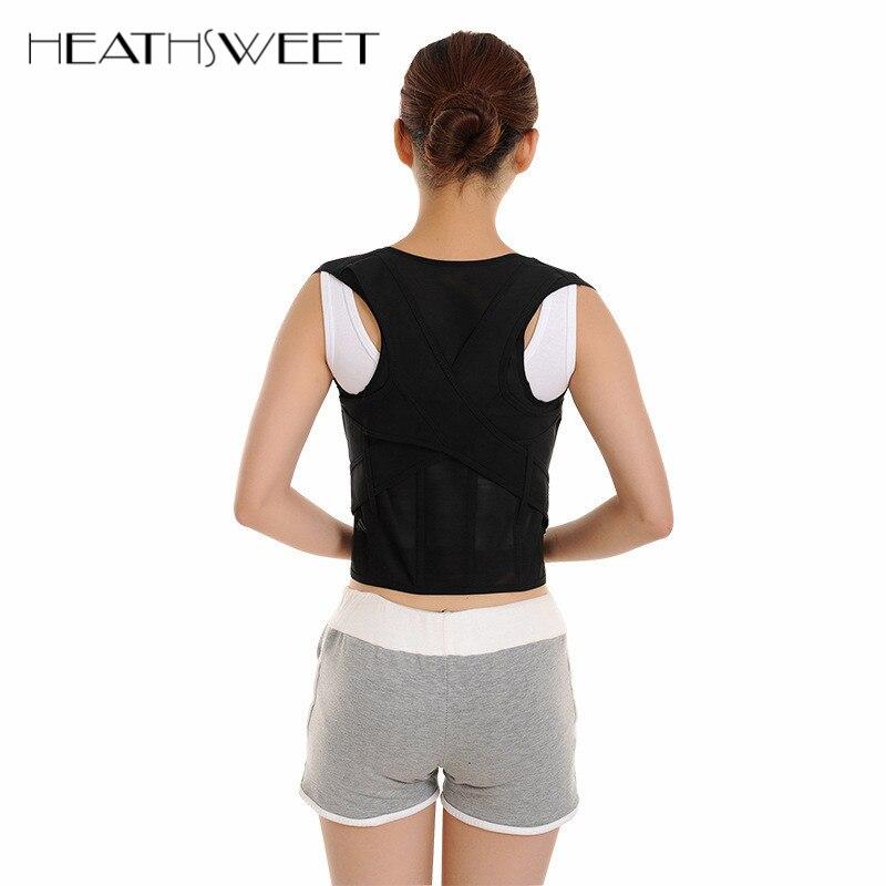 Healthsweet Back Posture Corrector Brace Back Posture Correction Belt Shoulder Support Humpback Corset Belt for Women and Men