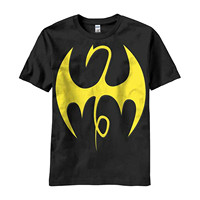 Men S High Quality Custom Printed Tops Hipster Tees Iron Fist Symbol Logo T Shirt