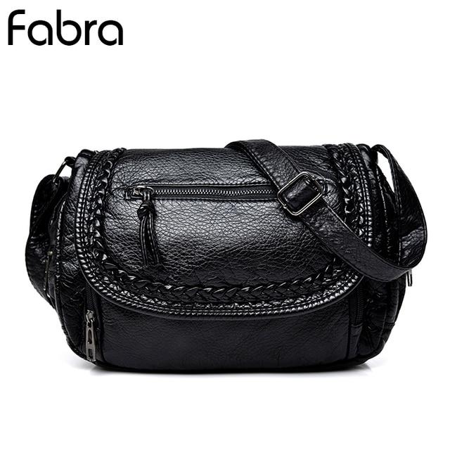 fe42fbdd70 Fabra New Small Size Women Messenger Bags Casual Flap PU Leather Braid Small  Crossbody Shoulder Hobos Bag Long Strap Bags Black