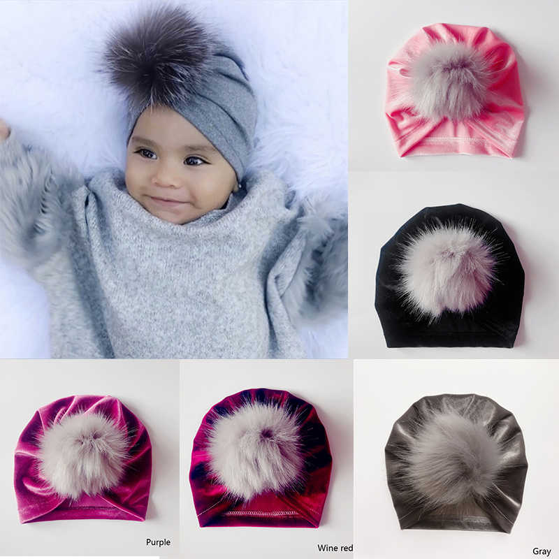 483899b93cf MOLIXINYU Baby Kids Pom Boy Girl Winter Hat Children Boy Girl Hat Knit Warm  Cute Hat