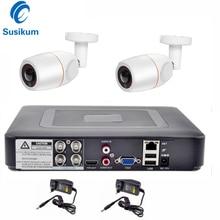 4CH DVR CCTV System 2PCS Buellet Fisheye Cameras Outdoor 180 Degree Security Camera 1080P HDMI AHD CCTV DVR Surveillance Kit
