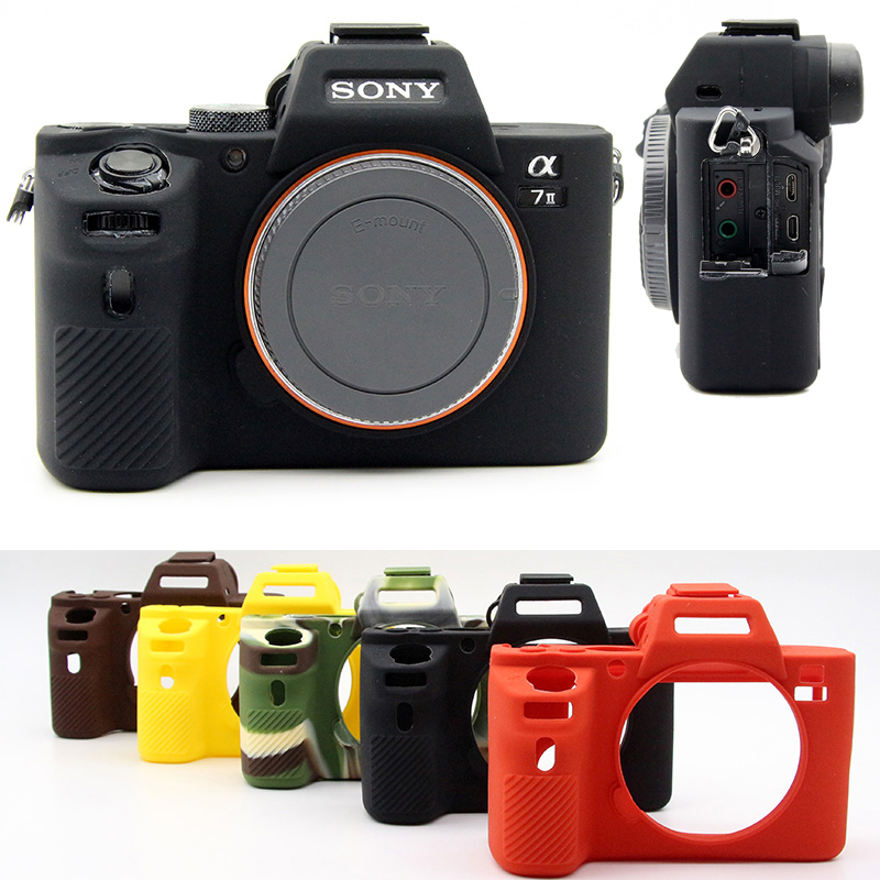 Soft Silicone Rubber Camera Protective Body Cover Case Bag Skin For Sony A72/A7S2/A7R2 A7 II A7II A7R Mark II 2 A7R2 ILCE-7M2