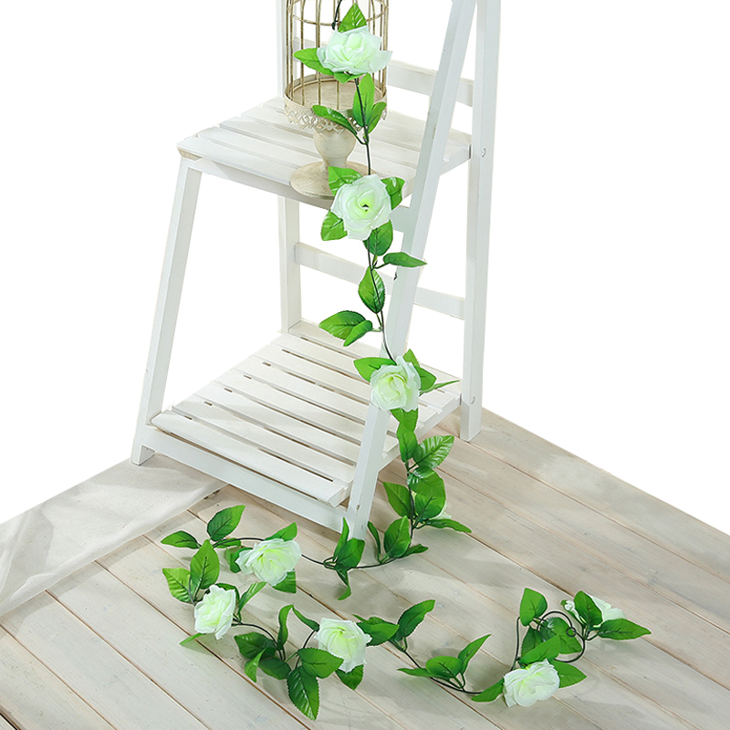 235cm Artificial Rose Vine Ivy Leaf Silk Roses with Green Leaves For Wedding Home Decoration Hanging Garland235cm Artificial Rose Vine Ivy Leaf Silk Roses with Green Leaves For Wedding Home Decoration Hanging Garland