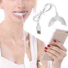 Hot Sale 3 Port USB Untuk Android IOS Portabel Cerdas LED Teeth Whitening Perangkat Sistem Pemutihan Gigi Gigi Whitening