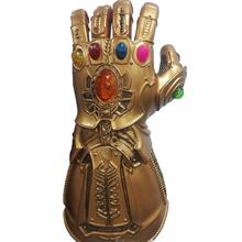 Avengers Infinity War Thanos Infinity  LED  Gauntlet Cosplay Gloves PVC Action Figure Model Doll Toys Gift Halloween Accessories