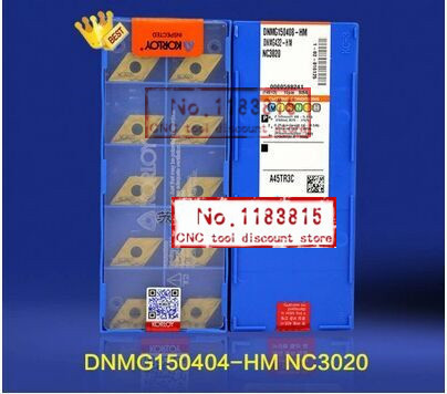 Free shopping 10 box DNMG150408 HM NC3020 carbide Insert Insert MDJNR MDPNN processing steel