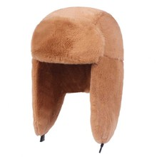 Fibonacci Winter Women's Bomber Hat Plush Faux Fur Hat Windproof Warm Ear Protect Bomber Hats Russian Ushanka Cap
