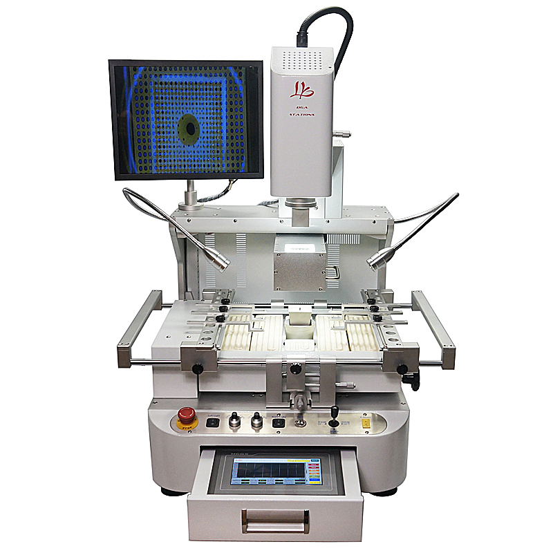 LY-R890A 3 zones <font><b>Automatic</b></font> align <font><b>BGA</b></font> <font><b>rework</b></font> <font><b>station</b></font> with CCD alignment system and HD touch screen 220V image