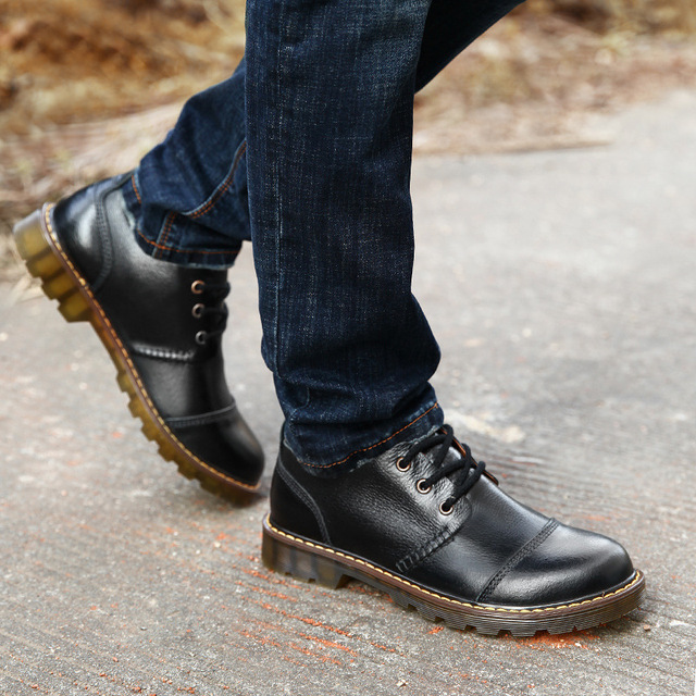 a076b95e7 2018 spring and autumn Martin boots and men fashion shoes, men's business casual  shoes