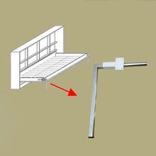 2 ชิ้น/ล็อตพับขาเตียง Wall ซ่อนกลไกอุปกรณ์เสริม