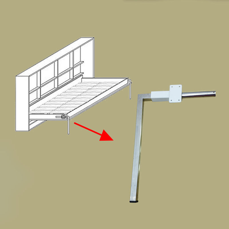 2pcs/lot Folded Bed Legs Wall Hidden Mechanism Accessory