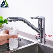 Лучшее качество Яркий Chrome Кухня кран смесителя 360 Вращение очистки воды Ванная Кухня кран чистой воды краны