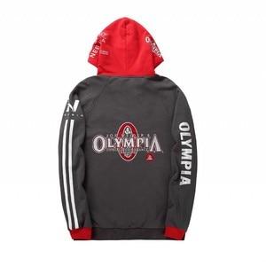 Image 5 - 2019 OLYMPIA Mens zipper Hoodies Fashion Casual male gyms fitness Bodybuilding cotton Sweatshirt sportswear Brand top coat
