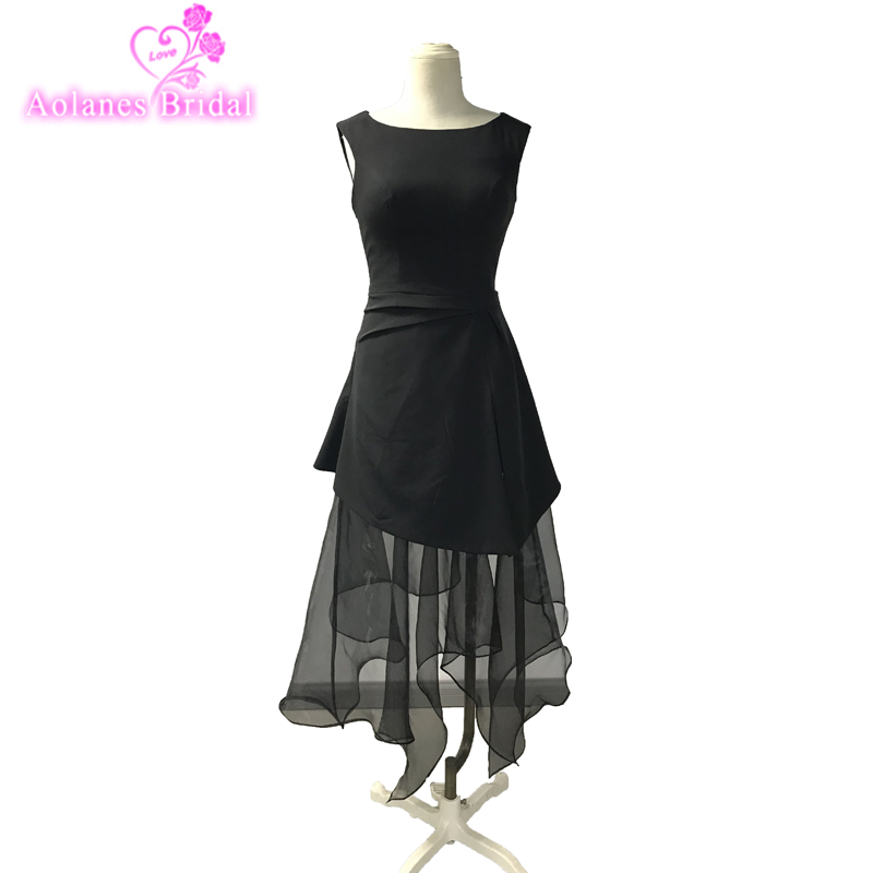Weekend Little Black Dresses Short Cocktail Dresses Ruched Organza Cocktail Prom Party Dresses Cheap Custom Party Gown