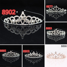 2019 Hot Bridal Wedding Crystal Tiara Headband Party Princess Prom Crown Kids Girl Hairband Hair Accessiories MSK66