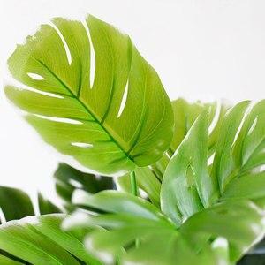 Image 2 - النباتات الاصطناعية الأخضر السلاحف يترك حديقة ديكور المنزل 1 باقة المكسيكي الخريف العشب الاصطناعي المزخرف النبات