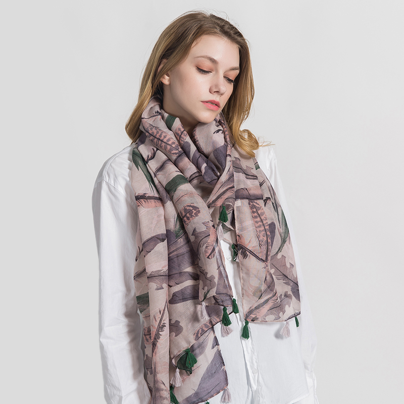 [FEILEDIS]2019 Fashion Cotton scarf Women Wrap Designer Scarves Autumn And Winter Women scarf luxury brand shawl MA1737