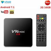 V96 Smart Mini Android 7.1 TV Box 2+16GB Google TV Media Player Receiver Allwinner H3 Quad Core HD 4K H.265 WIFI Netflix Youtube недорого