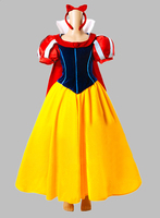 Cosplay Princess Snow White Adult Costume Dress with Cloak Party Dress Cosplay Dress