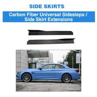Universal Carbon Fiber Auto Side Skirt Apron Protector for BMW M2 M3 M4 F30 G30 Sedan Coupe for Benz C63 ect
