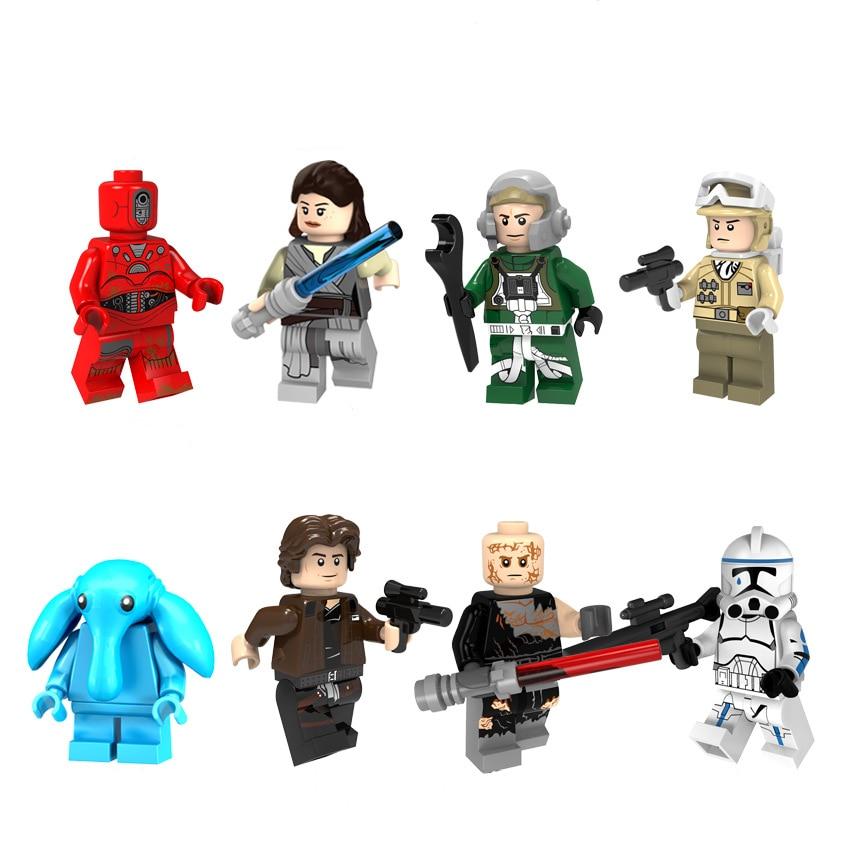 8pcs legoeINGly zvijezda ratova snagu buđenje mini građevinski - Izgradnja igračke - Foto 6