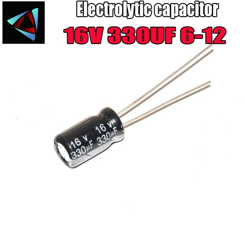 20PCS Higt Quality 16V 330UF 6*11mm 330UF 16V 6*11 Electrolytic Capacitor