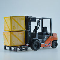 Mini Small Forklift Model Toy Construction Vehicle Fork Lift Plastic Project Car Forklift Truck Children S