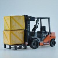 Mini Brinquedo Modelo de caminhão Veículo de engenharia Empilhadeira Empilhadeira modelo de Carro de Plástico crianças Brinquedos para meninos Crianças presentes Educacionais