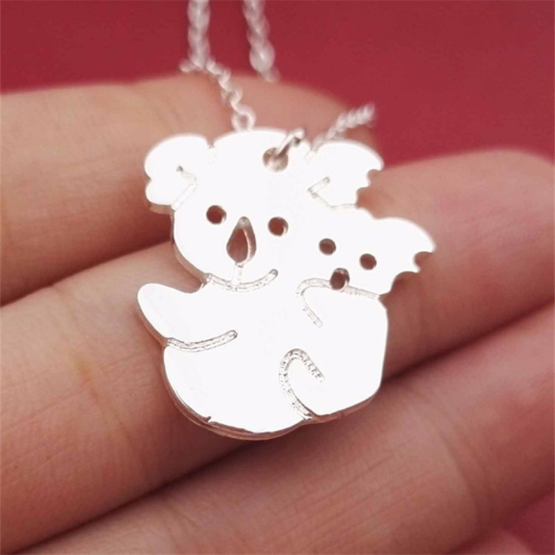 Animal Charm Cute <font><b>Koala</b></font> <font><b>Bear</b></font> with Baby Sweet Lovely <font><b>Koala</b></font> Necklace <font><b>Jewelry</b></font> Gift for <font><b>Koala</b></font> Lover Mother Gift image
