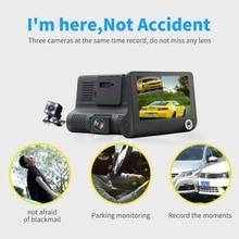 4,0 ''3 Way Автомобильный видеорегистратор камера видео рекордер заднего вида авто регистратор с двумя камерами s Dash Cam DVRS двойной объектив Blackbox#274227