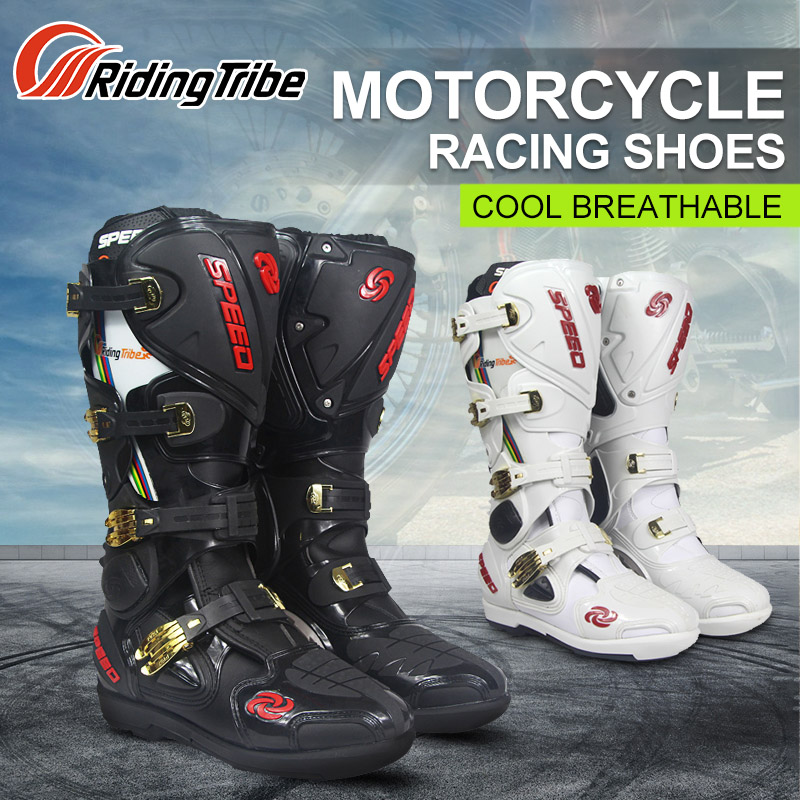 Riding Tribe Motorcycle Riding Boots Tribe Professional Motocross Off road Racing Long font b Shoes b