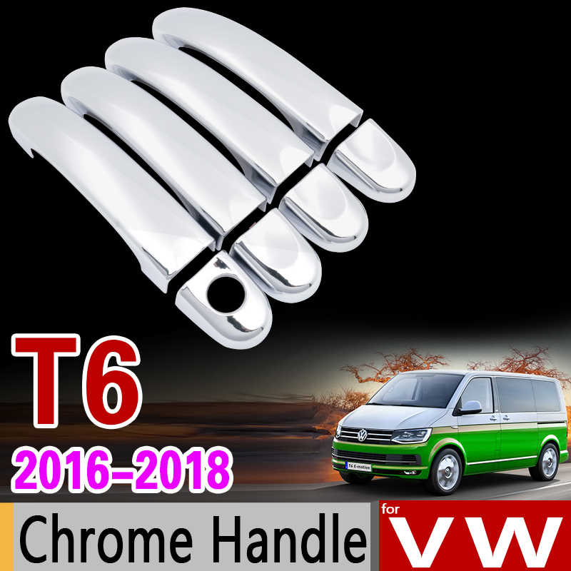 for VW T6 Chrome Handle Cover Trim Set for Volkswagen Transporter Caravelle Multivan California Car Accessories Car Styling