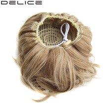 [DELICE] 60g/12cm Women's Elastic Drawstring Clip In High Temperature Fiber Synthetic Hair Curly Chignon