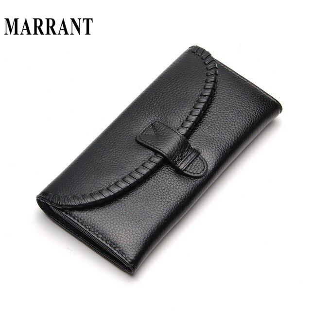 2 Fold Fashion Genuine Leather Women Long Wallets hand bag Coin Pocket Female Clutch Carteira Feminina Women Purse Wallet  2016
