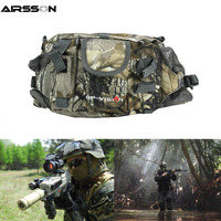 Tactical Military Waist Bag with Bottle Holder Waterproof Nylon Molle Phone Pack Portable Camping Hunting Pouch Outdoor Sport