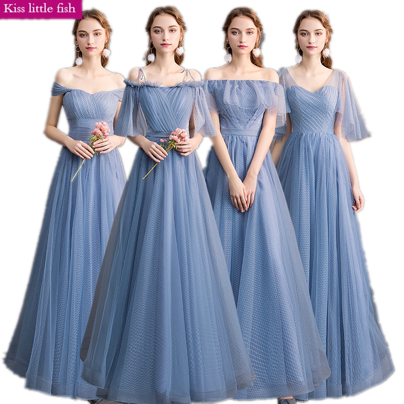 Free Shipping Long Bridesmaids Dresses Elegant Brides Maid Dresses Junior Bridesmaid Dresses