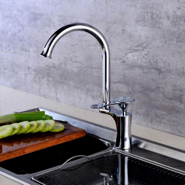 Free Shipping kitchen faucet chrome water tap hot and cold water mixer luxury basin sink mixer tap wash basin faucet 4 colours стоимость