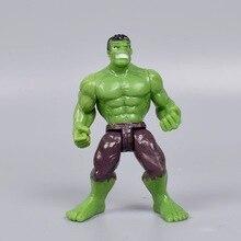 все цены на 10cm 1pcs superhero Avengers Iron Man Hulk Captain America Superman Batman Action Figures gift collection children's toys онлайн