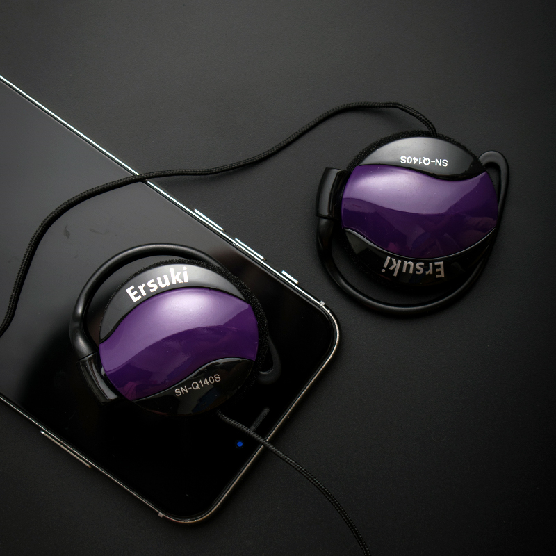 Ersuki Noise Canceling Headphones Super Bass Headset Ear Hook Music Headphones For Ipods Computer Mp3 Player Mobile Telephone