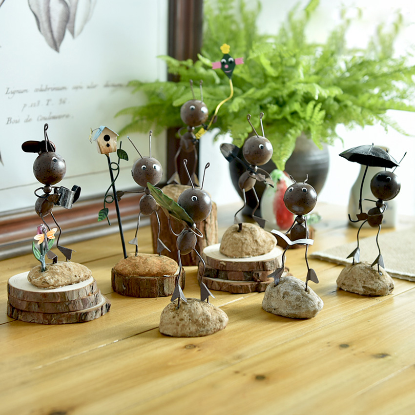 Creative Cute Ant Small Decoration decoration gift Figurines home ornament accessories Decoration in Figurines Miniatures from Home Garden