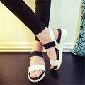 Летняя обувь девушку Горячий Продавать сандалии женщин 2016 туфли плоские Туфли Римские сандалии Женщин сандалии sandalias mujer sandalias X278