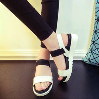 2016 Hot Selling Women Shoes Women Summer Sandals Peep Toe Flat Shoes Roman Sandals Shoes Woman
