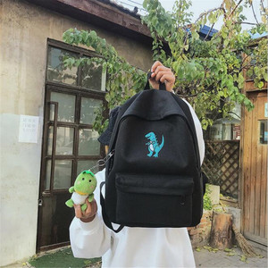 Image 5 - 2020 women embroidery dinosaur backpack bags lovely tassel school bags travel bags for girls drop shipping M453