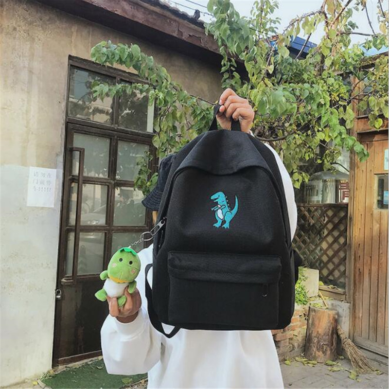 Image 5 - Meloke 2019 hot women embroidery dinosaur backpack bags lovely tassel school bags travel bags for girls drop shipping M453-in Backpacks from Luggage & Bags